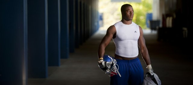 Steven Johnson has benefited from his determination to work through various injuries. After tearing the ACL and LCL in his knee in high school, Johnson didn't know whether he'd be able to play football again. His perseverance led him to being an invited walk-on at Kansas. He received a scholarship offer one year later in his sophomore year. This year, his junior year, Johnson will be starting at linebacker.