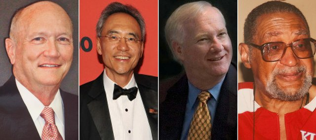 Four Lawrence High alumni will be inducted into the school's Hall of Honor. From left, Sam Campbell, Dr. Larry Kwak, Steve Scheid and Wesley Walker will take part in the ceremony September 19, 2010.