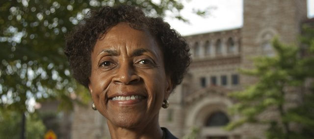 Chancellor Bernadette Gray-Little spoke Wednesday about the search for a new athletics director.