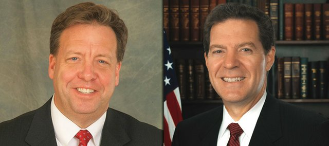 Democratic governor candidate Tom Holland and Republican candidate Sam Brownback will face off today in a debate at the Kansas State Fair.