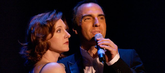 "Rita Harvey and William Michals perform in a production of Neil Berg's ""100 Years of Broadway."""