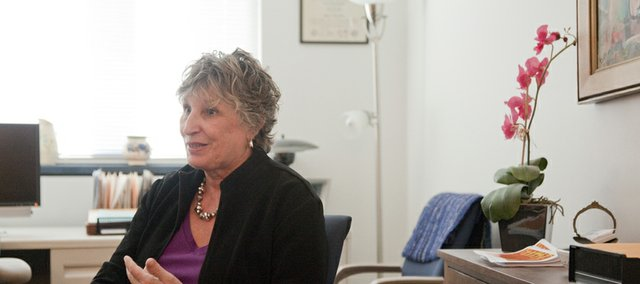 Eunice Ruttinger, adult services director, talks about some of the various forms of therapy used to treat anxiety, depression and psychotic disorders at Bert Nash Community Mental Health Center, 200 Maine, during an interview in 2010. Ruttinger is among the Bert Nash staff members who teach people how to respond to suicidal thoughts and behavior in the center's Mental Health First Aid classes, which are open to anyone.