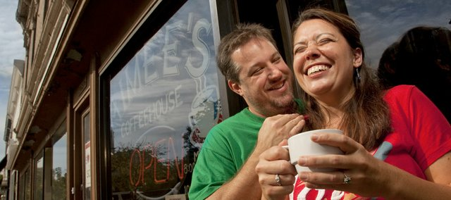 When coffee shop owner Cary Strong needed a name for his downtown business, he looked no further than the love of his life, Aimee Strong.