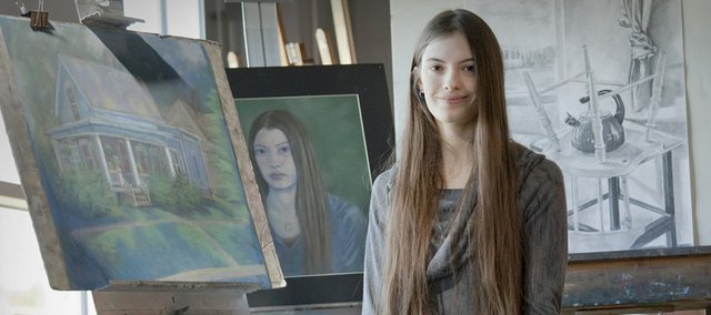 Marie Angelone is a senior at Free State High School and is the ArtStar winner this month.