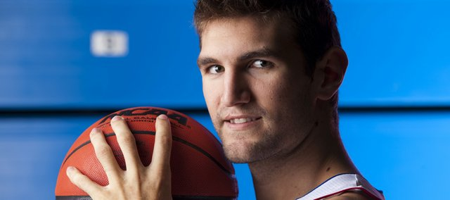 Kansas Center Jeff Withey is hoping to be back from injury by the Jayhawks' season opener on Nov. 12.