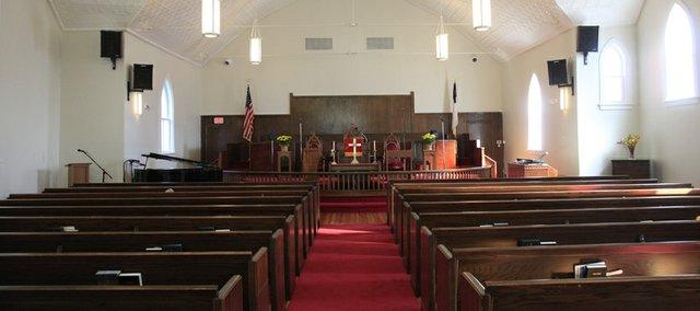 St. Lukes AME Church, 900 New York, has gone through a restoration process that included newly finished pine floors.