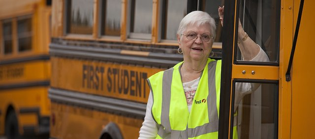Eloise Kerr has been a school bus attendant for 17 years. She tried retirement in 1993 but found it didn't suit her.