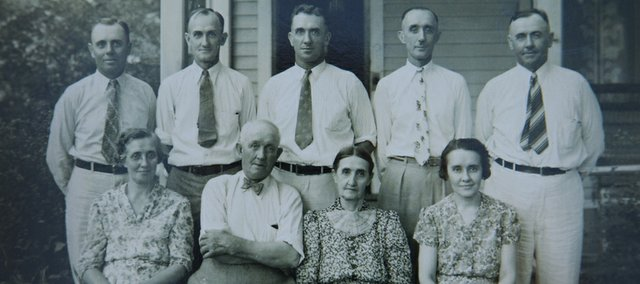 The Schaake family, which has been here since 1888, in a family photo take 50 years later in July, 1938. Front row, from left: Tillie, Christian, Louise and Lydia. Back row, from left: Gustave, Clarence, Milton, Ben and Albert.