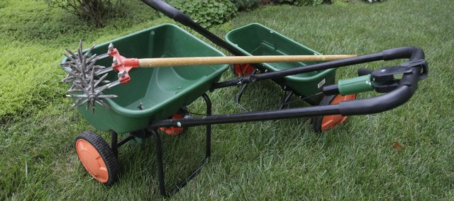 Applying fertilizer now allows grass plants to store carbohydrates. Lawns that are fertilized in the late fall turn green more quickly in the spring and maintain healthier growth. Spring fertilizer applications often lead to excessive shoot growth and more mowing and nutrients are often lost in frequent spring rains.