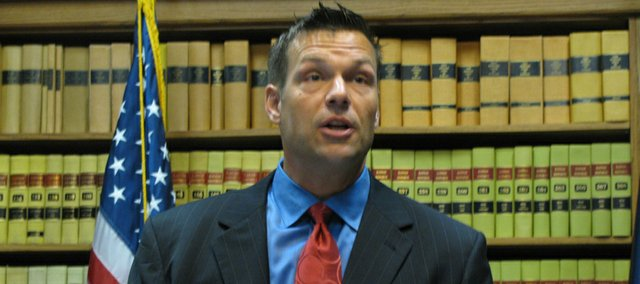 Former Kansas Republican Party chairman Kris Kobach on Tuesday filed to run for his party's nomination for Kansas secretary of state.