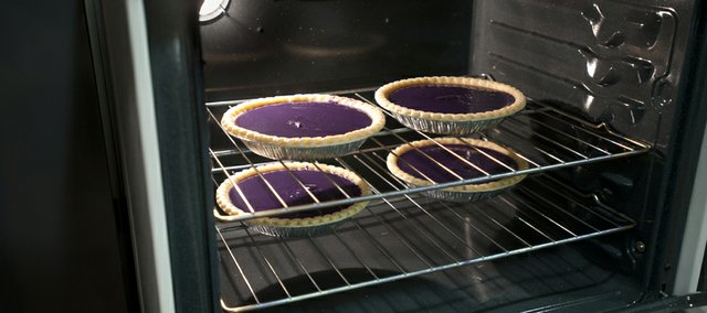 Purple pies baked by K-State.