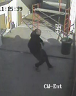 Surveillance footage of a man police suspect of robbingthe Zarco 66 store at 1415 W. Sixth St.