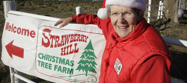 Lyn Walther, co-owner of Strawberry Hill Christmas Tree Farm west of Lawrence, sold her first Christmas tree in 1984.