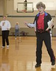 Wilma Elder, 81, leads an exercise class Wednesday at the Holcom Recreation Center. After almost 29 years as a fitness instructor with Lawrence Parks and Recreation, Wilma Elders, 81, is retiring. Her students enjoy her selection of music which includes a lot of big band records and, during this time of year, older Christmas music.