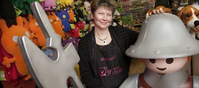 Margaret Warner, owner of The Toy Store, 936 Mass., remembers the day her parents opened the shop at its original Topeka location in October of 1976. Warner, who was 14 at the time, has worked there ever since.