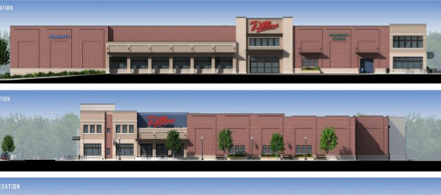 Renderings previously proposed for a new Dillons store at 1740 Massachusetts Street.