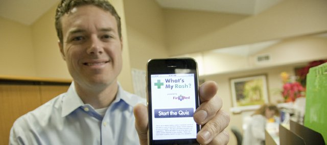 Lawrence doctor David Dunlap has invented a health application for iPhone called What's My Rash. The app includes a quiz that helps discern the type of rash a person might have.