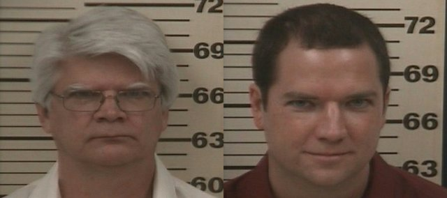Clark Sloan, left, of Tonganoxie, and his son Jonathan Sloan, right, of Lawrence and an owner of Bouncing Bear Botanicals, face numerous federal drug charges following an indictment filed April 3.