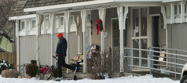 The Lawrence Community Shelter,  214 W. 10th St., sees an increase of those needing a place to stay when winter temperatures drop.