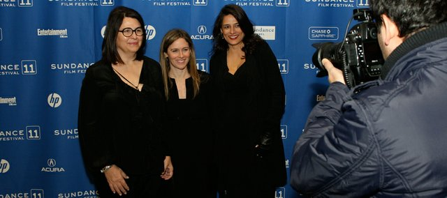 "Producers Elizabeth Redleaf, Mary Frances Budig, and Christine K. Walker attend the premiere of their movie, ""The Convincer,"" Jan. 25 in Park City, Utah, as part of the Sundance Film Festival. Budig is the daughter of a former Kansas University chancellor."