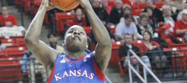 Kansas freshman Josh Selby goes up for two points against Texas Tech on Tuesday, Feb. 1, 2011 in Lubbock, Texas.