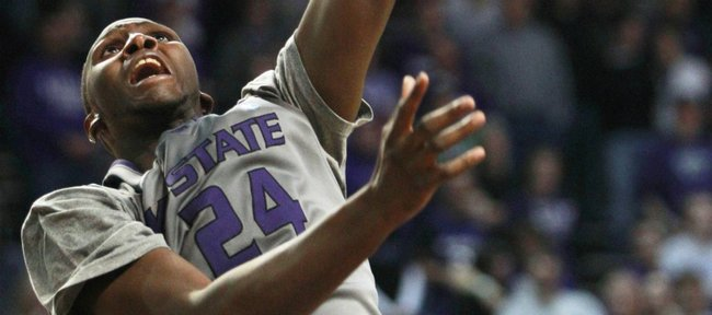 Kansas State forward Curtis Kelly dunks during the second half against Nebraska on Wednesday, Feb. 2, 2011, in Manhattan, Kan.
