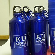 If your KUSports.com sign brings the most swag, we'll give you this swag.