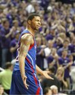 Kansas forward Marcus Morris complains about a bad pass after a Jayhawk turnover during the first half on Monday, Feb. 14, 2011 at Bramlage Coliseum.