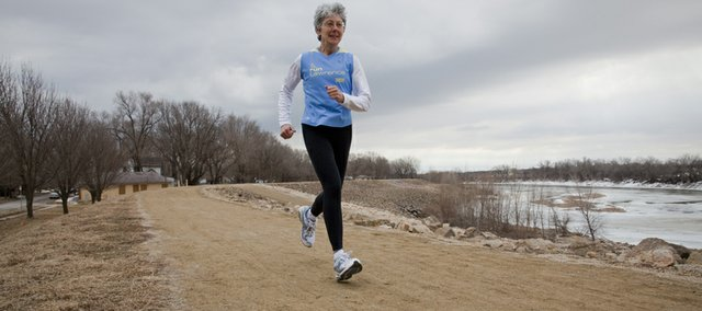 Dee Boeck has been a runner for 33 years. She had knee surgery for the first time in January for a torn meniscus. She is hoping to be running again at a 100 percent in the next month.
