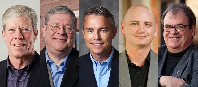 From left: Bob Schumm, Mike Machell, Mike Dever, Hugh Carter and Sven Alstrom