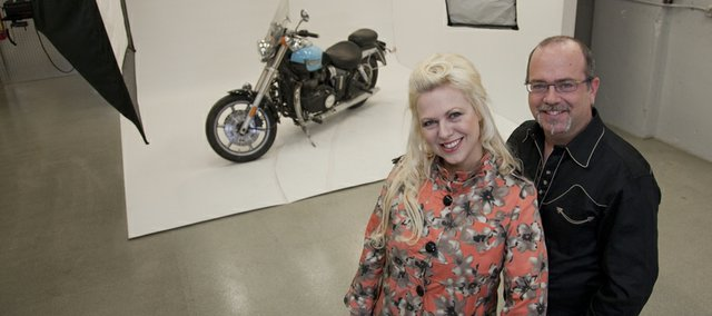 Carol Ann Zuk and John Gladman are the Owners of Bombshell Pin Up Productions, a North Lawrence photography company specializing in shooting images of women in vintage Hollywood style.