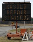 In this December 2010 file photo, a sign warns drivers of construction on Kasold Drive. 