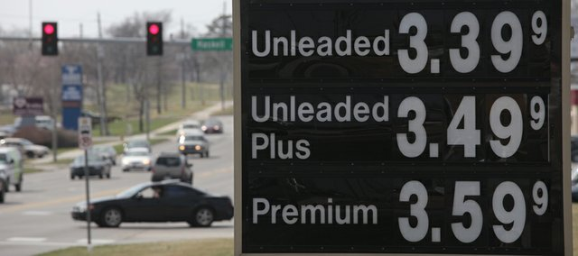 Gas prices have dropped recently but are still above $3.00 per gallon. These prices were posted Monday, March 20, 2011, at QuikTrip, 1020 E. 23rd St.