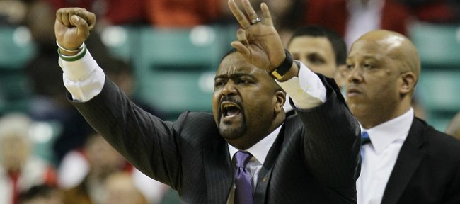 Miami head coach Frank Haith reacts in the second half of an NCAA college basketball game a in Greensboro, N.C., Thursday, March 10, 2011. Haith will take over as coach at Missouri, leaving the Miami basketball program after seven seasons.
