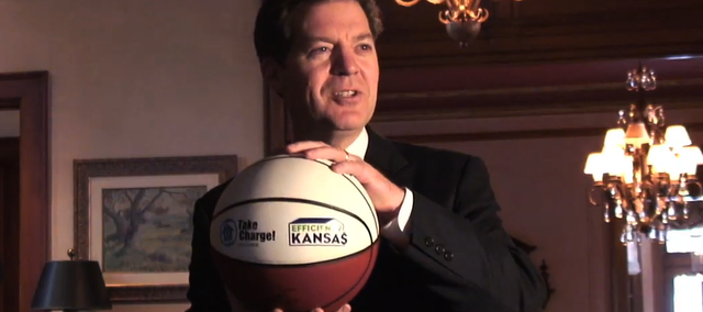 Shortly after coming to office, Kansas Gov. Sam Brownback opened up his own home, the governor's mansion in Topeka, to talk about energy efficiency upgrades people can make at home. Brownback will kickoff the KU Energy Conference on April 14.