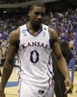 Kansas basketball player Thomas Robinson makes his way from the court after the Jayhawks' loss to Virginia Commonwealth Sunday, March 7, 2011. Robinson was cited on a misdemeanor battery charge in an April 10 altercation outside The Cave, a nightclub inside The Oread hotel, 1200 Oread Ave.