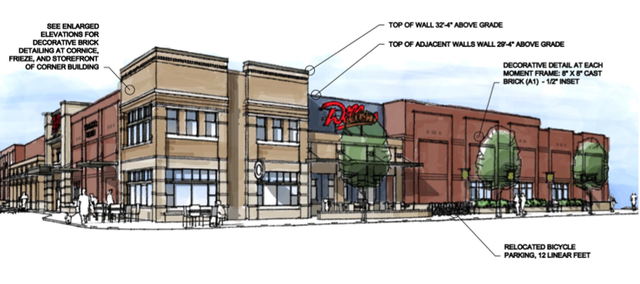New renderings submitted by Dillons in April 2011 for its proposed store at 17th and Massachusetts streets.