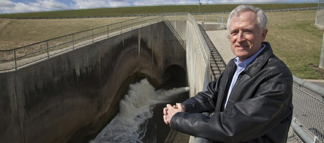 John Jepson was project engineer when Clinton Lake and Dam were built back in the 1970s.