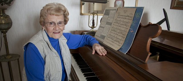Barbara Walden has been volunteering at Lawrence Presbyterian Manor for 11 years. Every Wednesday she plays hymns and popular tunes on the piano for the residents.