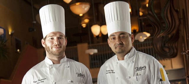 Bo Stephenson, left, and Patrick Chow-Yuen are two of the three chefs competing in Teller's chef competition July 4.