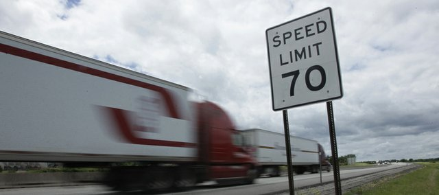 The Kansas Department of Transportation announced Tuesday, June 21, 2011, that speed limits on certain Kansas highways would increase from 70 mph to 75 mph, starting July 1. Large sections of the Kansas Turnpike, interstates 70 and 69 and U.S. highways 69 and 81 will have the new, higher speed limits.