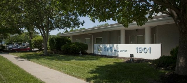 The Kansas Department of Social and Rehabilitation Services announced Friday that it will be closing the Lawrence SRS service center, 1901 Del.