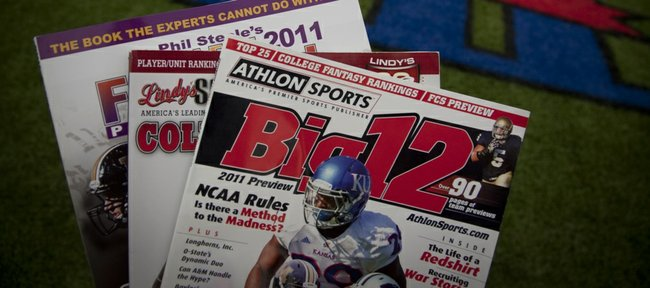 The Big 12 football season-preview magazines are out, and they're unanimous in their low expectations for the Jayhawks.