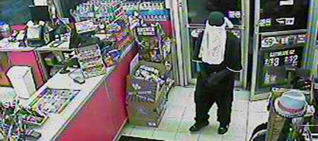 Police are seeking the man in this picture in connection with an armed robbery of the Kwik Shop, 845 Miss., early Thursday morning.