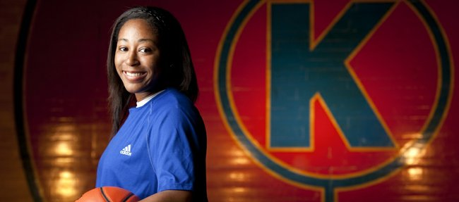 Kansas University newcomer Natalie Knight will join the long line of her relatives to don a Jayhawk uniform. Three of Knight's uncles, Mark, Danny and Kelly Knight all played for the men's team.