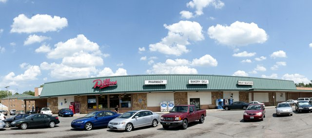 The City Commission unanimously gave final approval for a remodel of the Dillons store at 1740 Mass. on Tuesday night. The store was photographed Tuesday in a stitched-together panorama showing Babcock Place at far left.