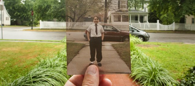 Dear Lawrence: My brother Caleb Krug in front of our home, sometime in the early 90's.