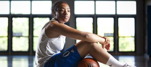 Kansas University newcomer Asia Boyd is pictured on Wednesday, July 20, 2011. After a fire destroyed her Detroit home during her senior year of high school, Boyd spent her final semester living with her basketball coach.