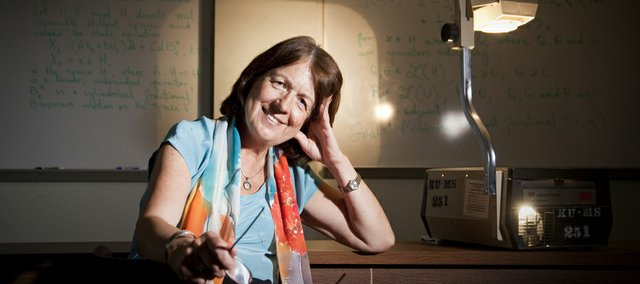 Kansas University professor of mathematics Bozenna Pasik-Duncan is pictured on Tuesday, June 28, 2011, in Snow Hall. Pasik-Duncan has been teaching at KU for 27 years.