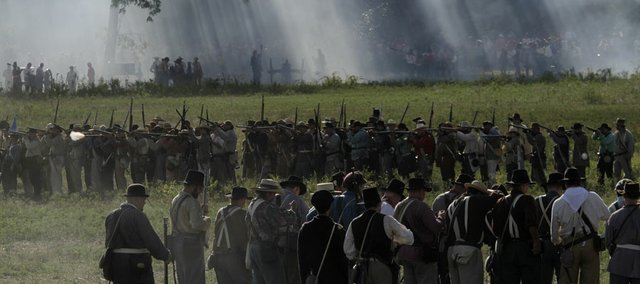 A scene from the Battle of Wilson's Creek 150th Anniversary Reenactment, held near Springfield, Mo., on August 12-14, 2011.